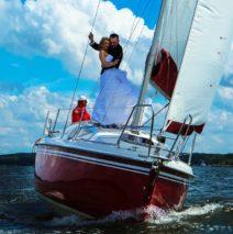 Свадьба и фотосессия на яхте